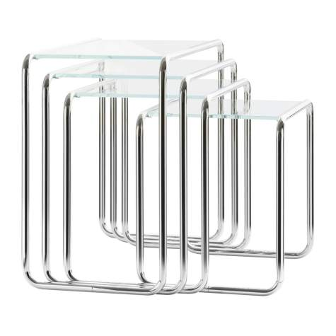 Thonet B 9 a-d Set Glas Beistelltische