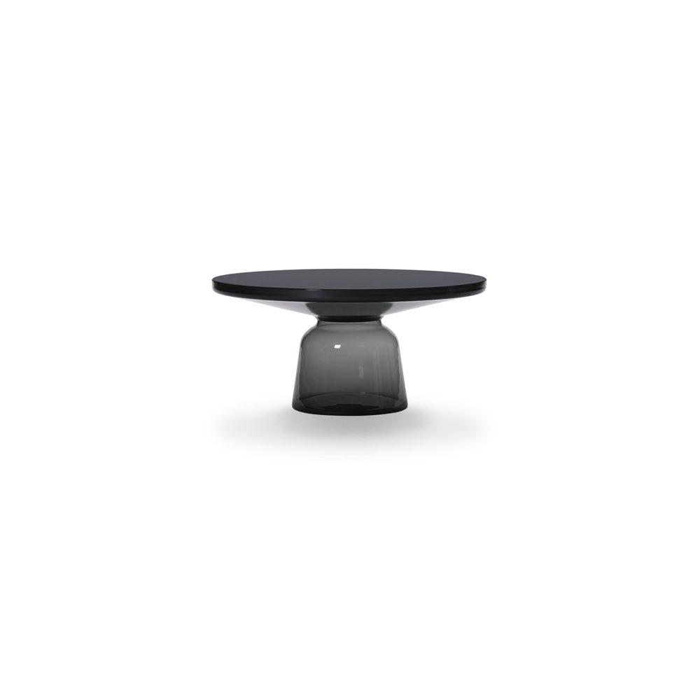 ClassiCon Bell Coffee Tisch quarz-grau | Stahl schwarz brüniert