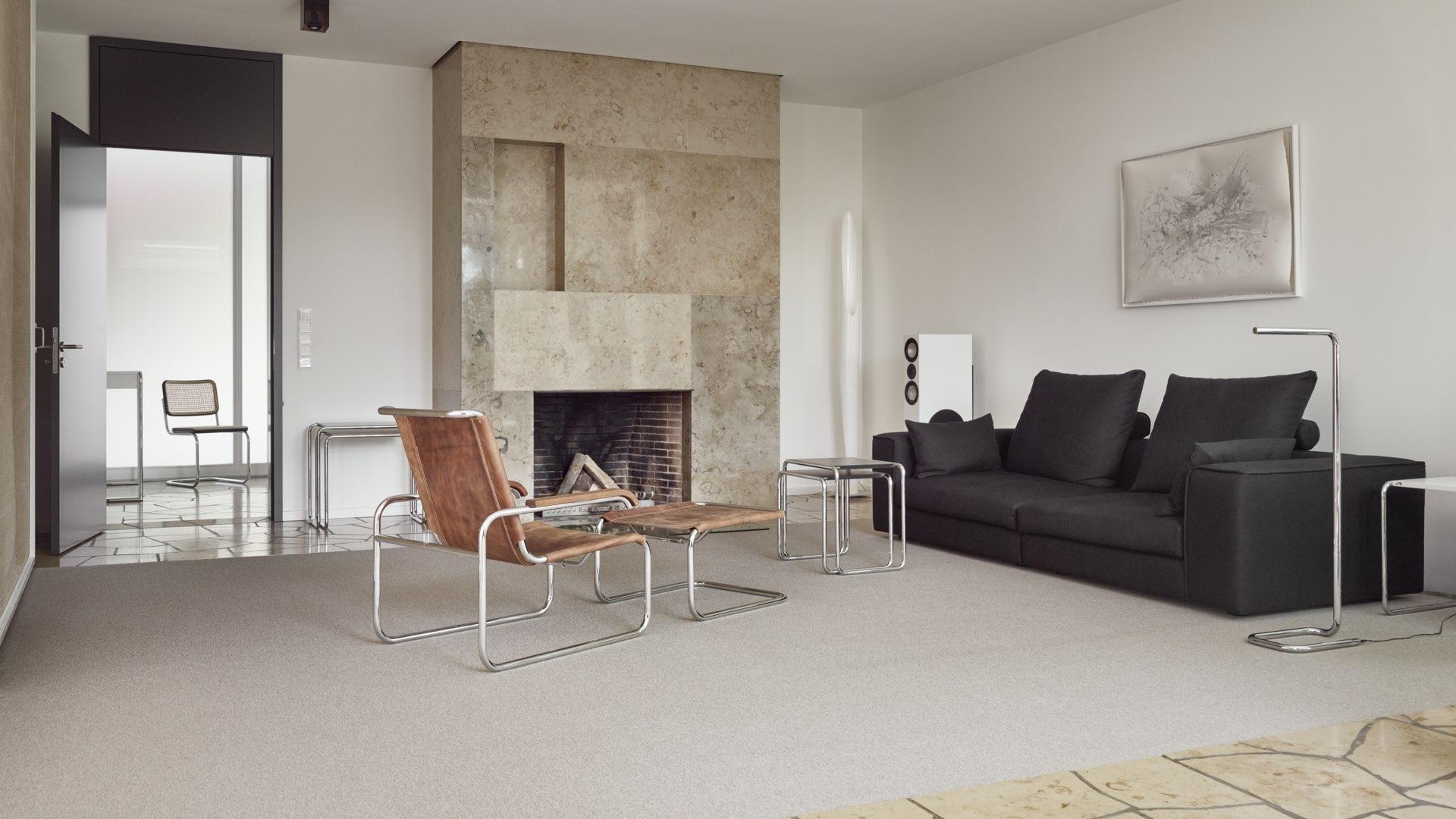 thonetshop thonet b 9 a d set beistelltische schwarz ral. Black Bedroom Furniture Sets. Home Design Ideas