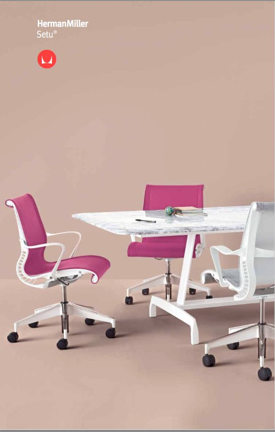 Herman Miller Setu Chair Brochure