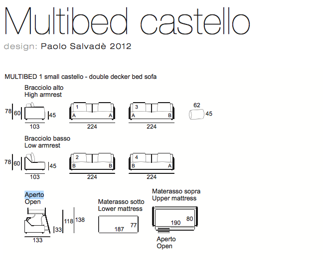 Multibed Castello
