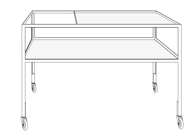 thonetshop richard lampert barwagen hirche. Black Bedroom Furniture Sets. Home Design Ideas